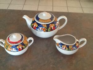 Tea pot sugar and creamer set exc cond Coombabah Gold Coast North Preview