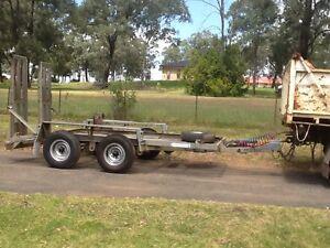 Galvanized plant trailer Minto Campbelltown Area Preview