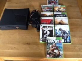 X Box 360 with 10 Games in VGC
