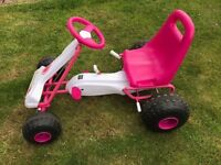 Pink and White Go-Cart
