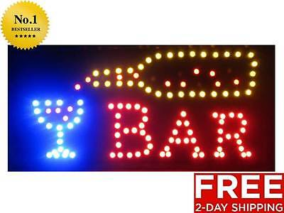 New Animated Led Bar Neon Light Business Open Sign With Onoff Motion Switch