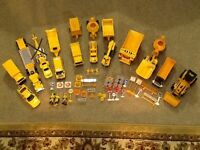Collection of car recovery and road construction vehicles with accessories