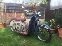 ULTRA RARE MUSEUM PIECE - (( CBT READY 1957 CLASSIC VINTAGE VILLIERS MERCURY DOLPHIN 98CC MOPED ))