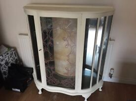 Shabby Chic Vintage Retro China Cabinet 1950's