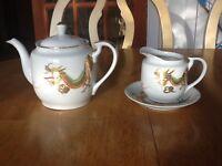 China tea pot and jug