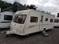 Bailey Senator Indiana 4 berth caravan 2007 ,FIXED BED, Awning, Bargain !!