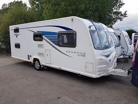 2014 Bailey Pegasus GT65 Ancona 6 Berth caravan FIXED BUNK BEDS, MOTOR MOVER VGC