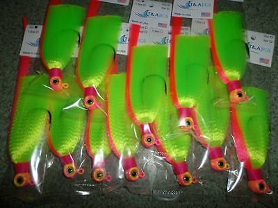 3 Pack Snook Flare Hawk Jigs Flair Electric Chicken Weight+Hook Choice T&A JIGS