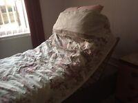 Electronic Divan bed with memory foam mattress