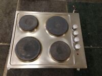 cooke & lewis stainless steel 4 burner electric hob