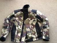 Motorcycle jacket camouflage medium
