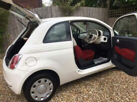 FIAT 500 2009, 3DR, SEMI AUTOMATIC LIMITED EDITION STRAWBERRIES AND CREAM