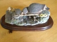 Vintage Ornament - Hedgehog with Young by Border Fine Arts