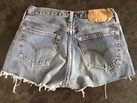 Genuine 'Red Tab' Girls 501 LEVIS Denim Shorts size UK W31...