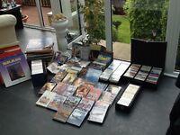 Lp records,DVDs,CDs,music cassettes,video cassettes
