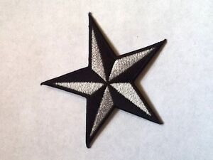 Iron On/ Sew On Embroidered Patch Badge Star Nautical 5 Point Star