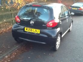 Toyota aygo 5dr 1litre 56 reg low miles £20 a year tax 2 lady owners