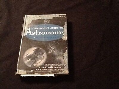 C 1934 Popular Science Everybodys Guide To Astronomy Hc With Dust Jacket