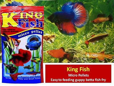 King Fish Micro Pellets Floating Type 60g Easy to feeding guppy betta fish fry