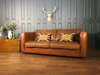 Leather Chesterfield 3 seat 2 sofa vintage oxblood brown tan corner retro