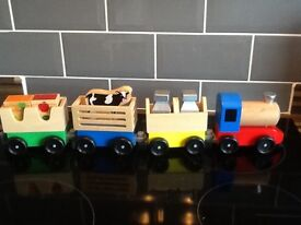 Melissa and Doug Wooden Toy Train