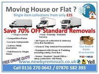Professional Man & Van House Removals Service - 7 Days A Week - Leicester To Nationwide (Same day)