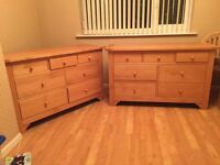 Bedroom Chest of Drawers, Bedside Cabinets, Headboard and Mirror