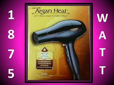 NEW!!! ONE N ONLY 1875 WATT ARGAN HEAT CERAMIC HAIR BLOW DRYER 6 SPEED (1875 Watt Speed Hair Dryer)