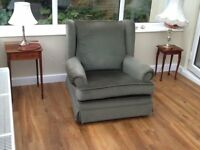 Pair (2) Traditional comfy armchairs