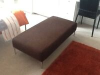 Large Footstool with chrome legs