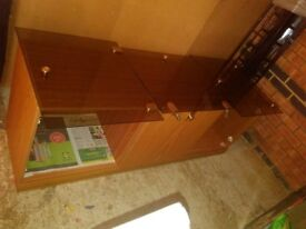 House clearance: Solid wooden display unit