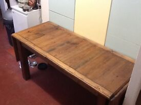 Galley table handmade 5ft X w 2.25 , extends to 8ft