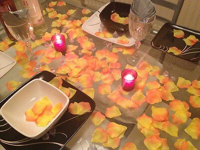 Rose Petals Yellow Orange, Wedding DayGift Basket Decoration. 250 Petals x