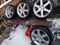 """17"""" alloys with two brand new tyres"""
