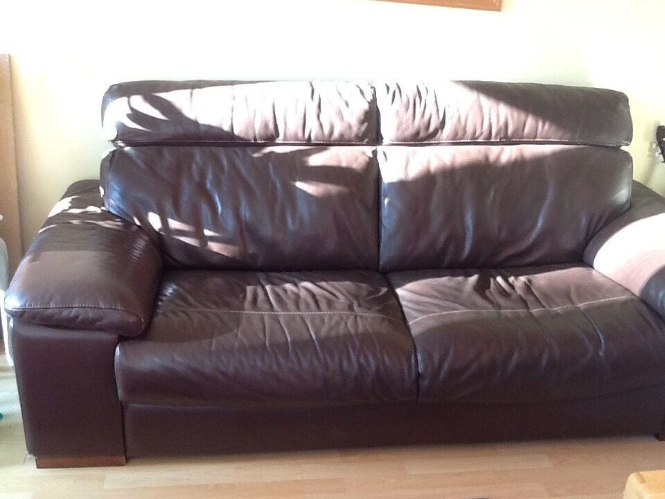 Large Brown Leather Sofa In Woodbridge Suffolk Gumtree