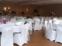 Throne Chairs/Love Lounge/Chair Covers/Table Covers/Backdrop/Centre Pieces/LED Dance floor Hire!