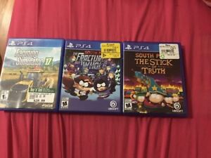 Bunch of ps4 games up for trade