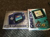 Gameboy Advance and Gameboy Colour