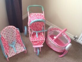 Mothercare/ELC buggy, cot and bouncer
