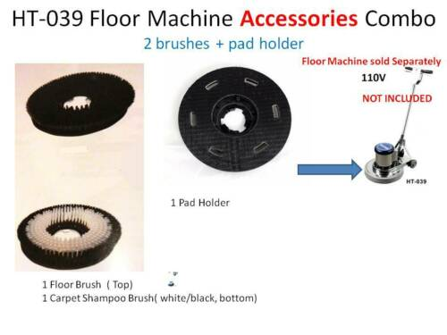 """(2 Brushes 16"""" + 1 Pad Holder 16"""" ) carpet clean, floor buffer HT039 Accessories"""