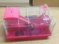 Hamster cage and equipment.