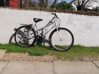 Ladies bike, silver grey colour, vgc. Little used. 15 sp. shimano gears.