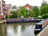 2 bed canalside flat WITH GARDEN at Piccadilly Village, close to Piccadilly Stn & Northern Quarter
