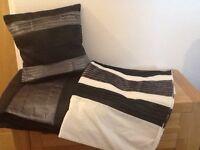 Duvet cover, cushion and throw