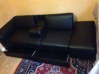 Black leather look sofabed unused/new