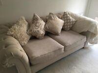 Gorgeous Next Cream Sofa