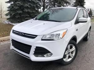 2014 Ford Escape FULLY LOADED Automatic , Alloy Rims, and Key-less Entry!  White Exterior and Grey Interior   104641 K.M