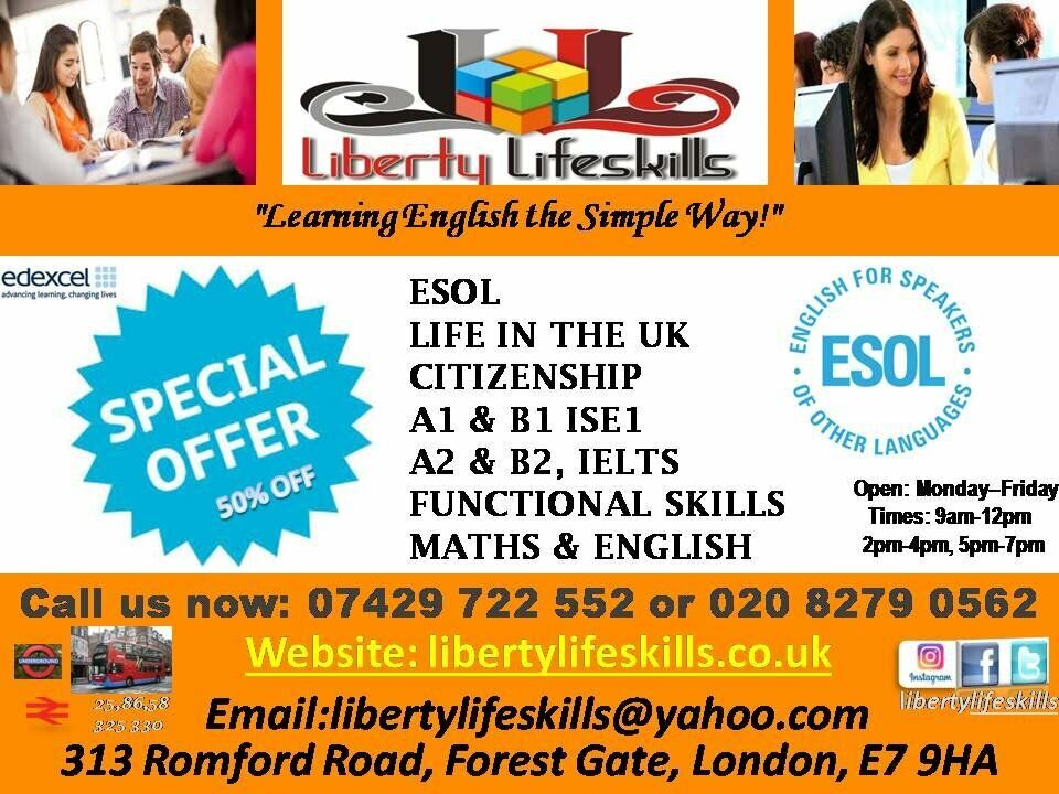 LIFE IN THE UK, B1, & B2, A1 & A2, IELTS, ESOL, DRIVING