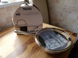 Thomas Rosenthal Group Non Stick Stir Fry Pan or Wok, 28cm Glass Lid,