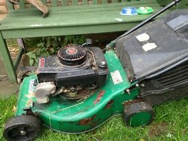 petrol lawnmower and petrol strimmer in good working order had them both running today